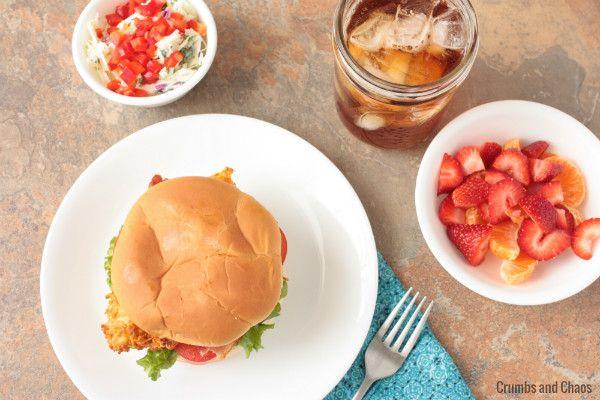 Spicy Chicken & Bacon Sandwich with Buttermilk Cilantro Slaw