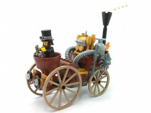Steampunk LEGO carriage: Instructions at Rebrickable