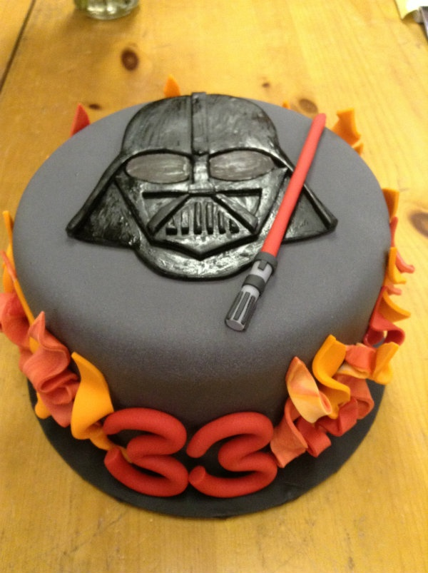 Darth Vader Birthday Cake Celebrations by Sonja