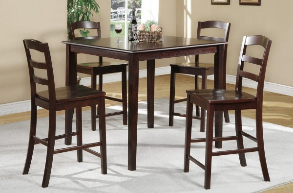 oak this dining room collection is a 5 piece pub style set