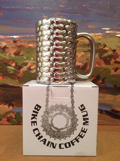 Bike Chain coffee mug. Creativity is endless.   www.kimprints.com