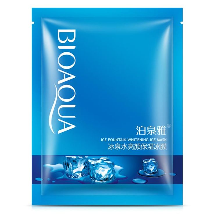 [Visit to Buy] BIOAQUA Ice Fountain Whitening Face Mask Cooling Hydrating Moisturizing Brighten Skin Toner for Woman/Man Winter Skin Care #Advertisement