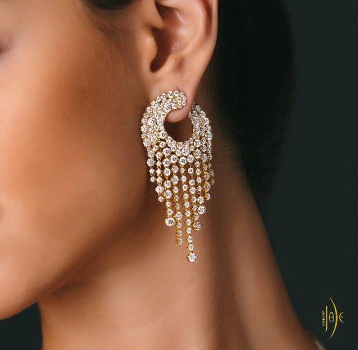 White stone earring