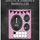 This chevron and chalkboard number line 1-20 will go great in your classroom. This goes great with any chevron, chalkboard, or colorful room theme....
