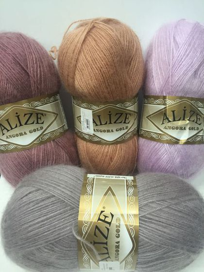 Alize ANGORA GOLD Yarn  Mohair Wool and por Niceknitsforkids