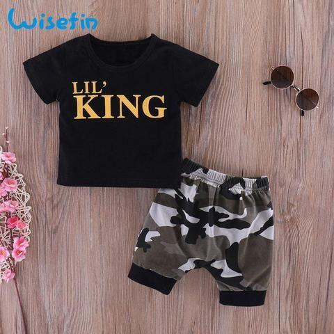 fefc3c5cf Newborn Baby Boys Clothing Set Summer Infants Shirts Toddler Clothes ...