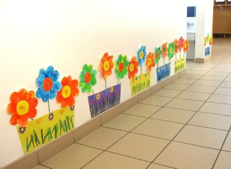 Printemps idees creche pinterest d cor id es et enfants for Decoration jardin maternelle