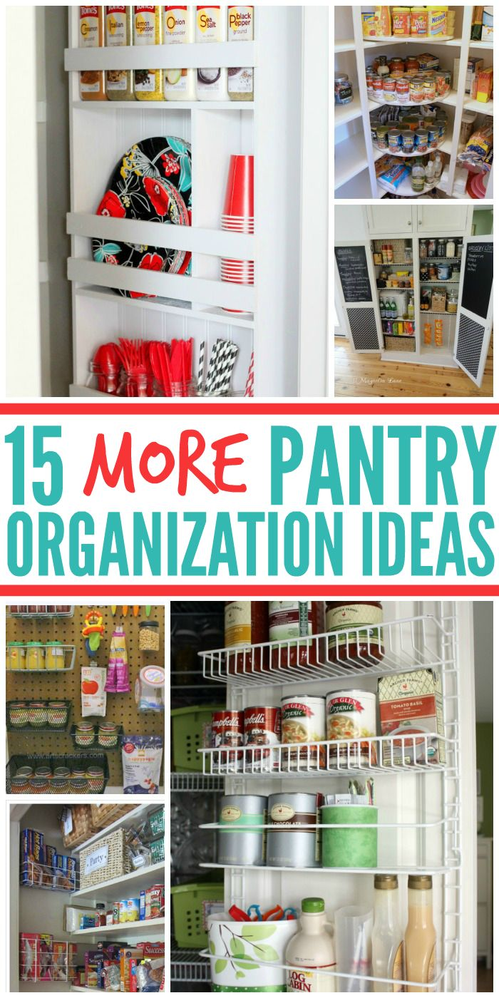 5 Tips For A Gorgeous And Organized Pantry: 15 MORE Pantry Organization Ideas