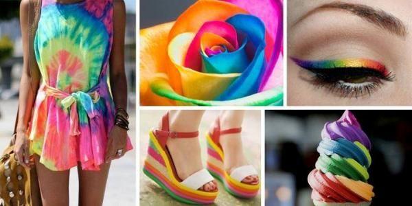 gökkuşağı renkleri ile göz makyaj örnekleri