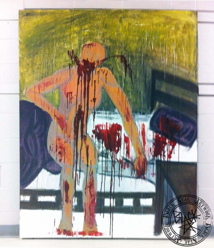 """The Ripper""   72.5"" x 65.5""   Oil and wax on canvas   Black Star Artwork by Leonard Walsh  www.facebook.com/BlackStarArtwork http://bit.ly/1bCN2xI"