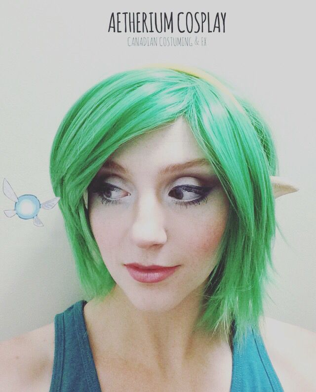 Aetherium Cosplay Makeup run for Saria from Legend of Zelda