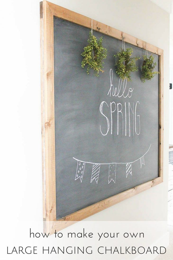 Say hello to spring and to fresh home decor with this DIY hanging chalkboard. Don't you think this homemade decoration would be the perfect addition to your entryway?