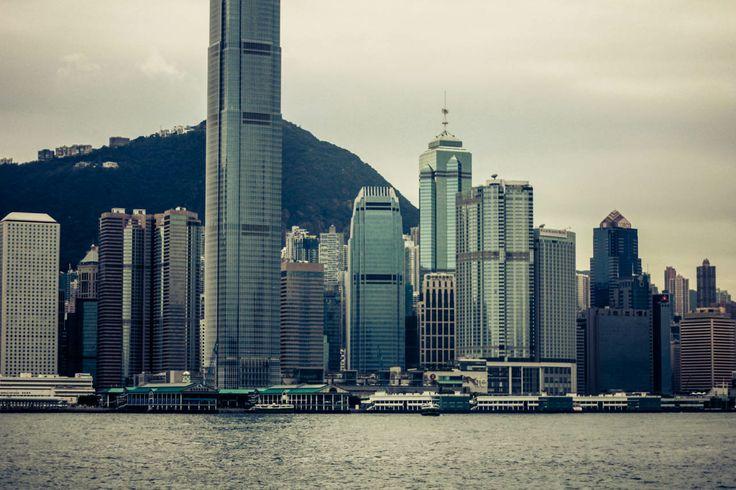 #hongkong #skyscraper #city #contemporary #modern #architecture #view #hills #sea