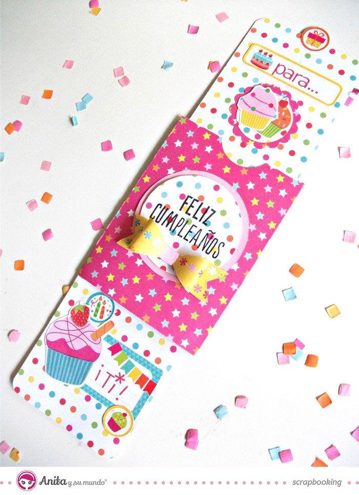 tarjeta deslizante scrapbooking anita y su mundo  #cumpleaños #card #slidercard