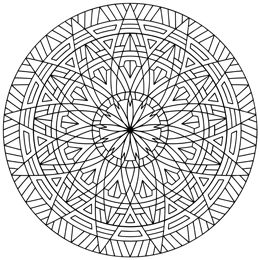geometric coloring pages cool - photo#36