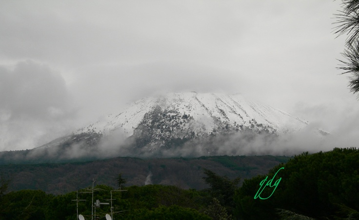 The sleeping giant in winter