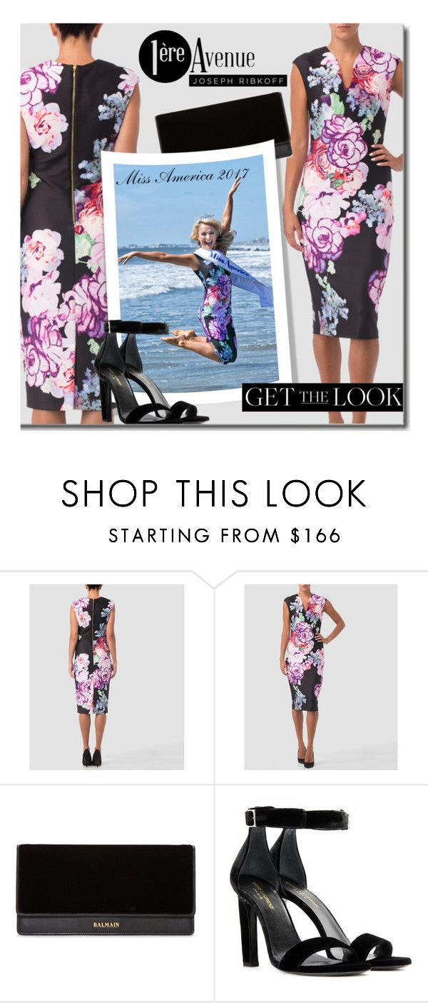 """""""Get The Look - Miss America 2017 Savvy Shields"""" by premiereavenue-boutique ❤ liked on Polyvore featuring Joseph Ribkoff, Balmain, Yves Saint Laurent and country"""