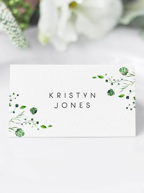 Editable Tropical Place Cards Template Place Card Printable Etsy Printable Place Cards Wedding Wedding Place Cards Wedding Place Card Templates