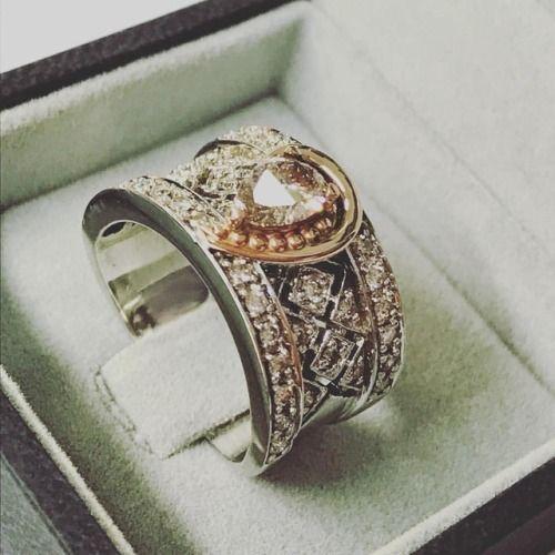 #whitegold, #rosegold & #diamondring - vintage inspired #designerjewellers, #PretoriaEast