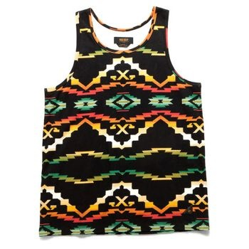 10Deep Tribes Tank - Native Black £25.00 (£30.00 inc VAT) 100% Cotton Custom 10deep Tribal Native pattern on Black Vest Regular fit Driven by the same personal strength and energy that bore hip hop, skate, punk and graffiti subcultures, 10Deep are the cornerstone street wear brand who communicates with the bold power of individuality Available in store or at www.catapult.co.uk