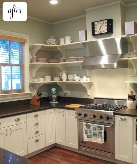 Open Kitchen Shelves Instead Of Cabinets: Shelves Instead Of Cabinets