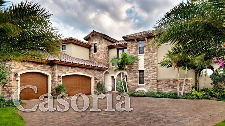 Virtual tour of the casoria a beautiful mediterranean for Tuscan style house plans with courtyard
