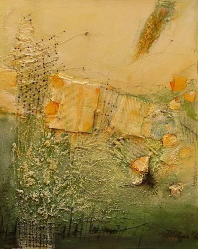 "Inge Philippin -  ""The Net""  - mixed media on canvas"