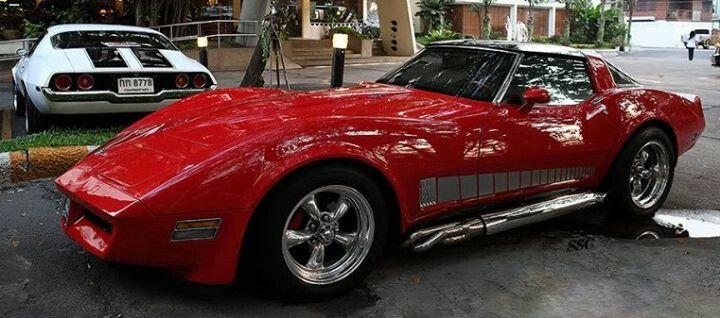 76 Corvette W Side Pipes Amp Hardtop Convertible Little Red Corvette Counting Cars Corvette