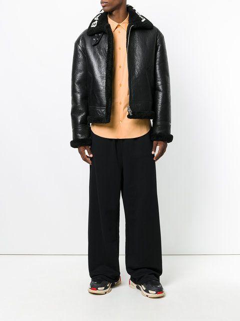 Balenciaga veste zippée à col à logo