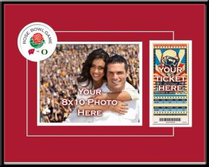 2012 Rose Bowl Your 8X10 Photo And Ticket Frame - Wisconsin Badgers. Capture The Memory of The 2012 Rose Bowl With A 8X10 Photo & Ticket Frame. Pasadena Is Pure Football Heaven And Your Ticket Deserves A Display As Special As The Rose Bowl. Officially Licensed By The Clc, This Item Is Double Matted In Team Colors And Comes Professionally Framed. It Features Openings For Your Ticket As Well As Your Personal 8X10 Photo And Includes A Unique Rose Bowl Graphic. Overall Size: 20 (W) X 14 (H)…