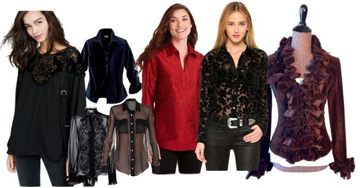 модные блузки, рубашки и туники зимы 2015-2016