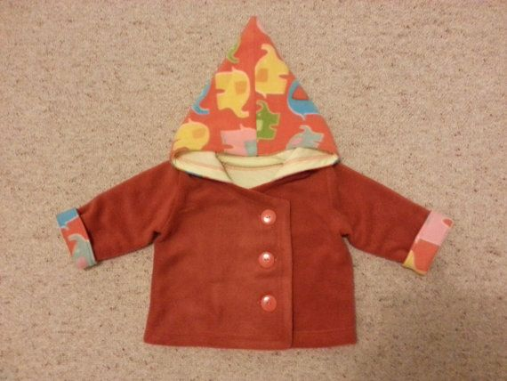 Jacket with Pointy Hood by NoraMadeMe on Etsy