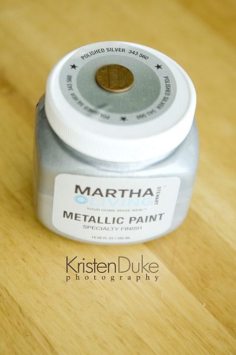 Martha Stewart metallic paint-Saw this at Home Depot last week and I loved it!
