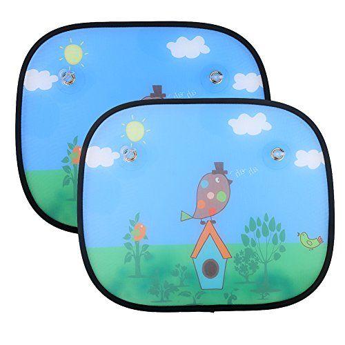 Universell Auto Sonnenschutz Baby IntiPal 2 St. Sonnenblende f�r Kinder Autosonnenschutz (Vogel)