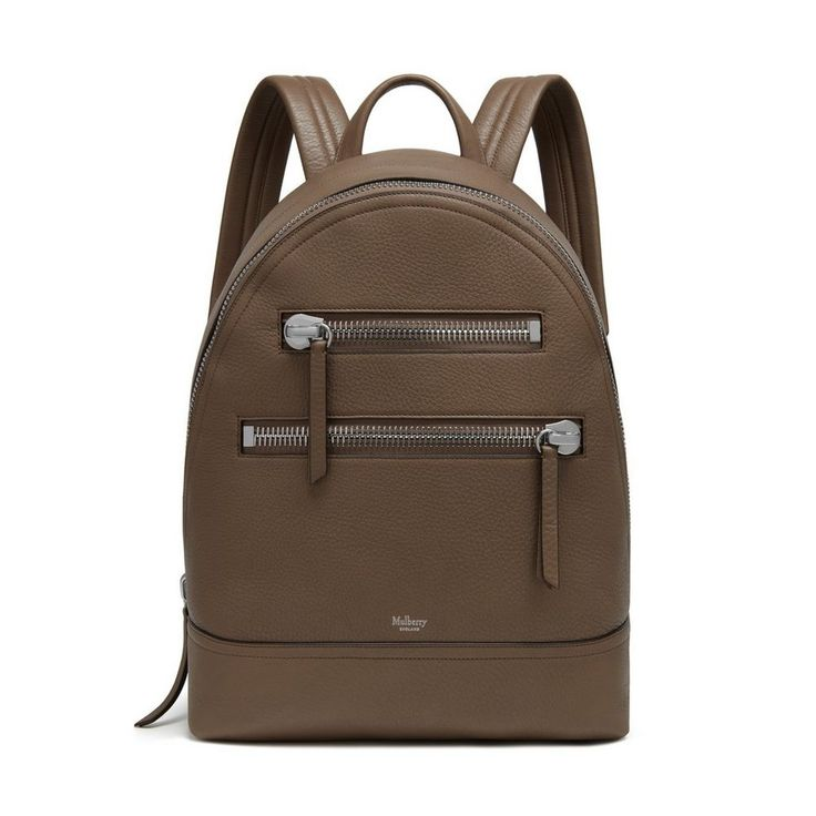 This contemporary backpack will be your new favourite way to get from A to B. Front statement zips add an edge to an otherwise classic style. Set up for the ultimate practicality it features canvas lining, a padded and quilted back and adjustable webbing straps.