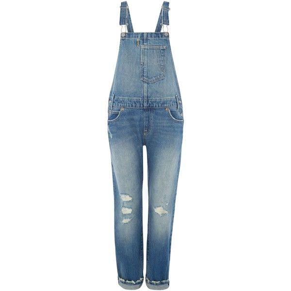 Levi's Overalls long dungarees in overlook ($150) ❤ liked on Polyvore featuring jumpsuits, denim mid wash, women, blue bib overalls, levi overalls, overall, blue overalls and overall jumpsuit