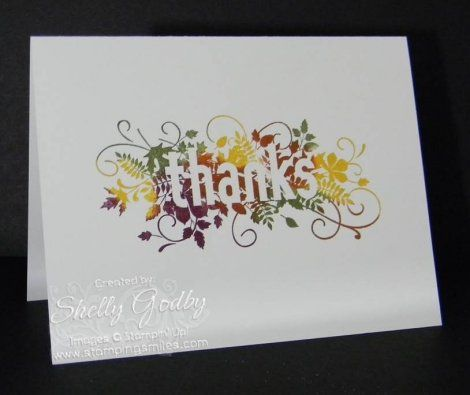 Sensational even though this Stampin' Up! Seasonally Scattered card was super simple to make.  It's easy to make a fabulously simple card when you start with a fabulous stamp set!  Order Seasonally Scattered by January 5, 2015 in my online store http://www.shopwithshelly.com