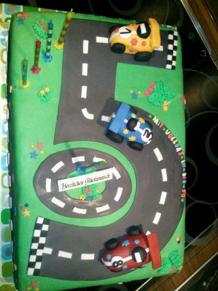 Rennautos cake