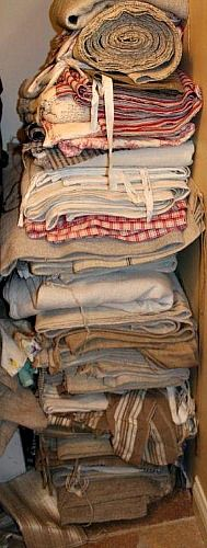 Antique German Linens..I find this picture just so comforting. wishing I could just make a nest and go to sleep in these lovely linens.....