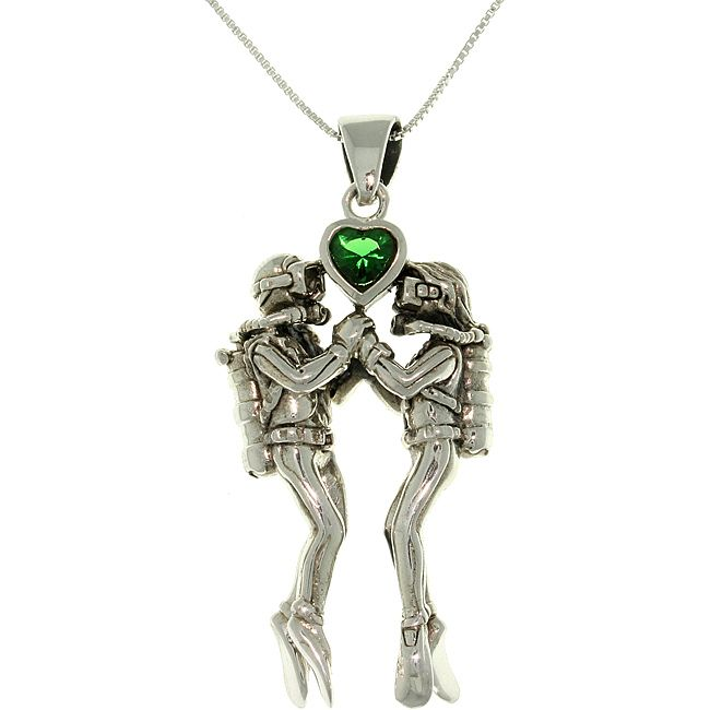 Scuba diving necklace. This is such a cute necklace. I would love this as an anniversary gift! Even has green for May!