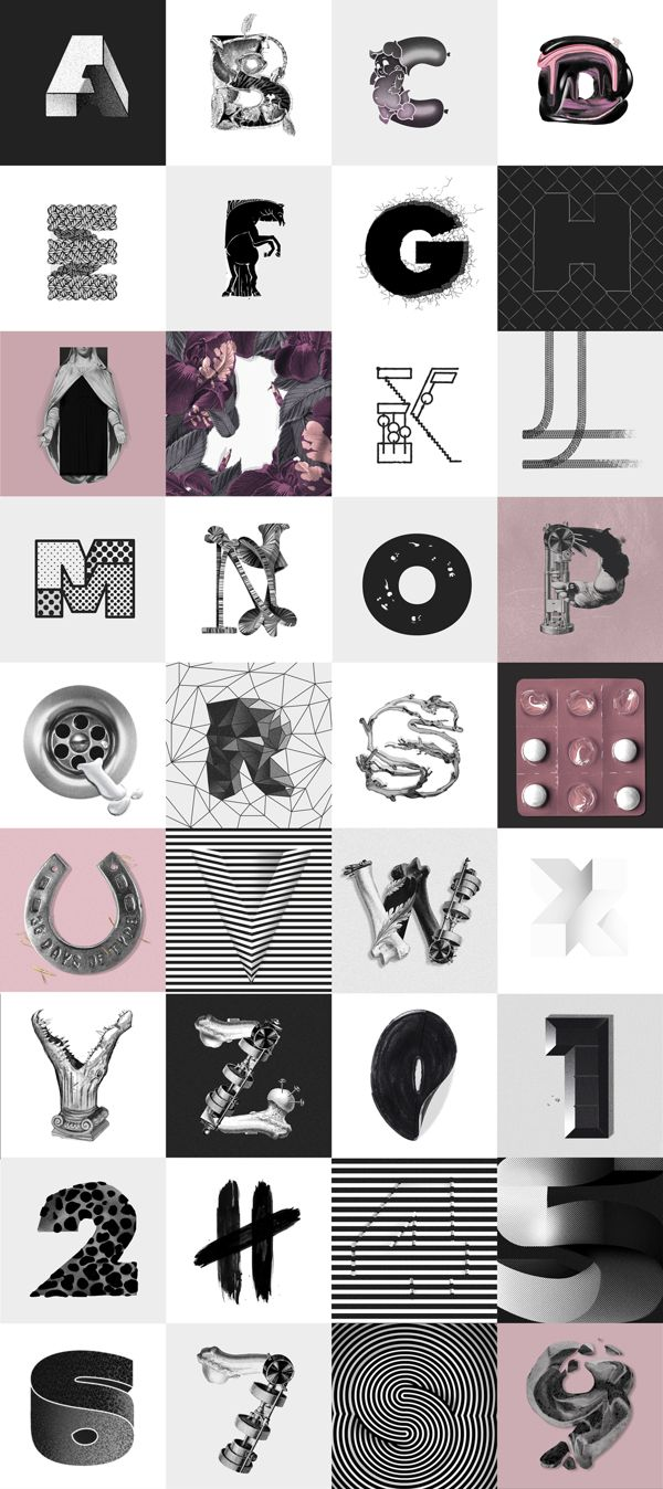 36days of type - Alphabet on Typography Served