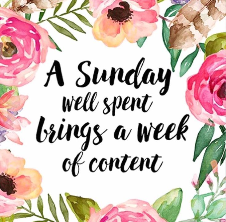 A Sunday well spent brings a week of content. #SoulSunday