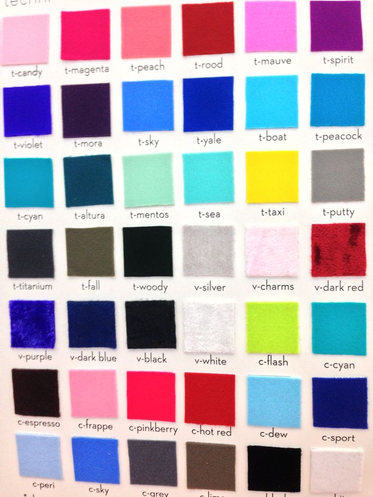 Color Chart! Whats your favorite Yumiko color combination ...