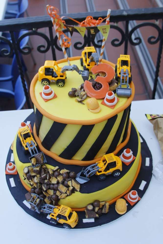 Amazing cake at a construction birthday party! See more party ideas at CatchMyParty.com!