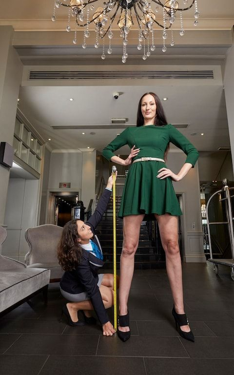 Meet the 6ft 9in Russian model with the longest legs in the world
