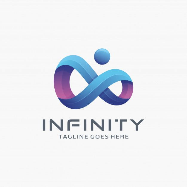 Modern 3d Infinity Logo Design With Dot Logo Design Infinity Unique Logo Design Logo Design Template