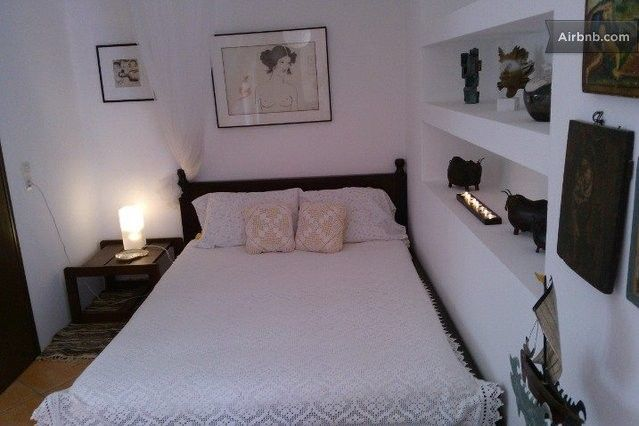 The double bed .........in calm-romantic  atmosphere.