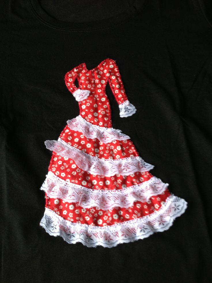 Camiseta mujer flamenca