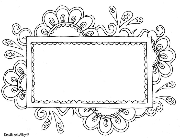 Flowered Frame Doodle Art | Zen-Tangled Borders | Pinterest | Sleep ...