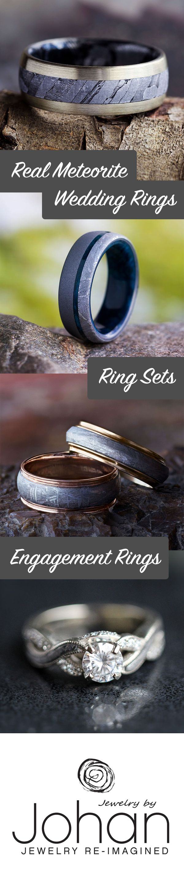 Choose from hundreds of our meteorite wedding bands and meteorite engagement rings, or custom design your own, spectacular masterpiece of a wedding ring!